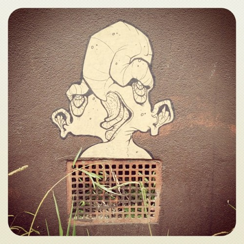 Cool little paste up in Thornbury #graffiti (Taken with instagram)