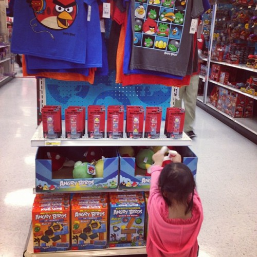 Angry Birds in real life…. Babis love it (Taken with Instagram at Target)