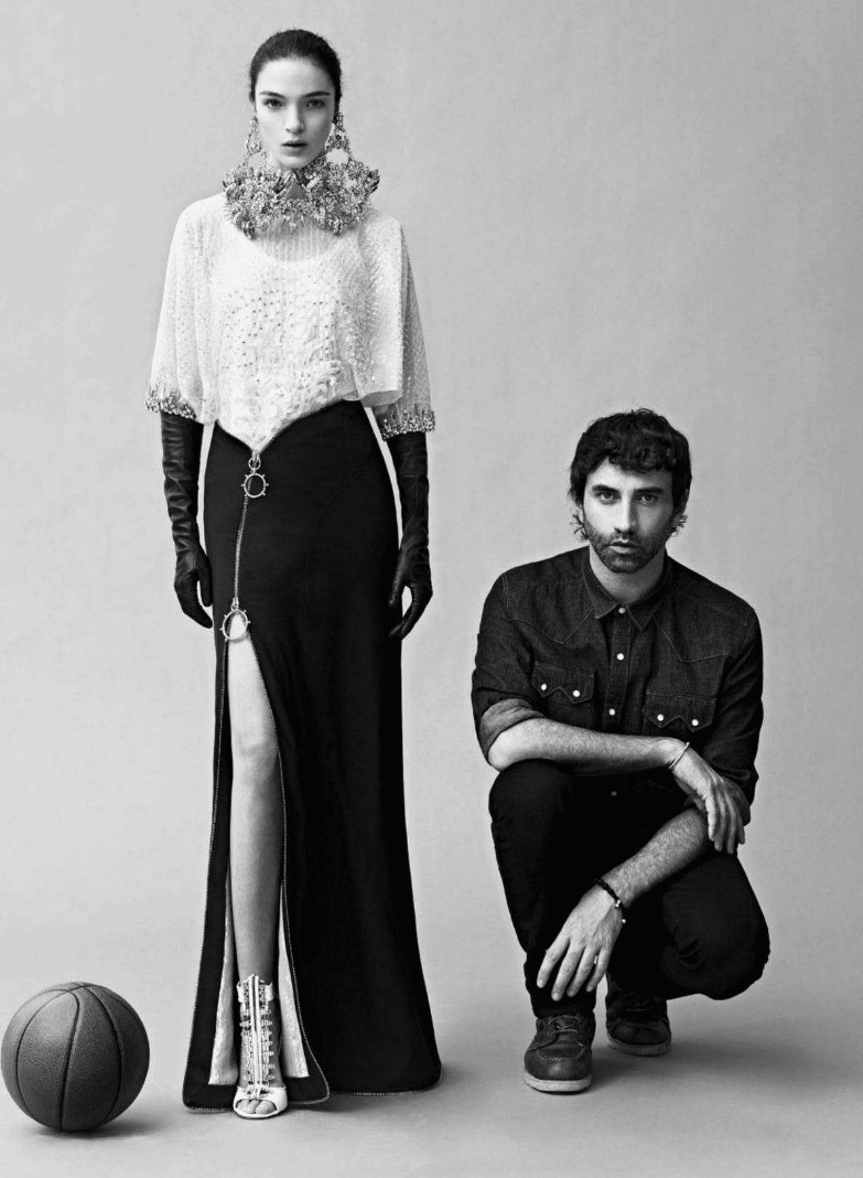 diafano:  Mariacarla Boscono and Riccardo Tisci by Karim Sadli for Elle US June 2012