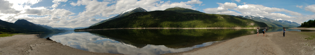 Took a panorama whilst at this lake in Revelstoke. I'm pretty happy with the way that it turned out