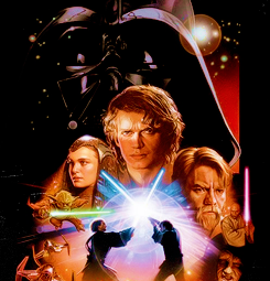 lmnpnch:  Star Wars movie poster art:  Episode I: The Phantom Menace (1999) | Episode II: Attack of the Clones (2002) | Episode III: Revenge of the Sith (2005) | Episode IV: A New Hope (1977) | Episode V: The Empire Strikes Back (1980) | Episode VI: The Return of the Jedi (1983)