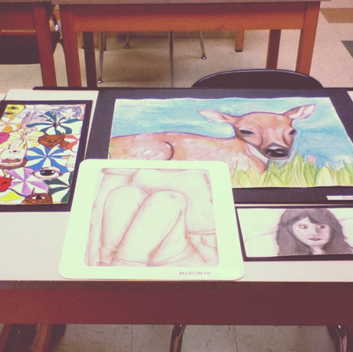 This was all my stuff that was in the art show from a couple of weeks ago :x