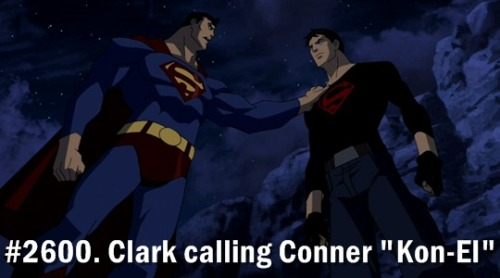 "littleyoungjusticethings:   #2600. Clark calling Conner ""Kon-El""  MY HEART I CANNOT COMPREHEND MY EMOTIONS YOU HAVE NO IDEA HOW MUCH I'VE BEEN WAITING FOR THIS I'VE BEEN WAITING FOR IT EVER SINCE THEIR FIRST INTERACTION ON FOURTH OF JULY"