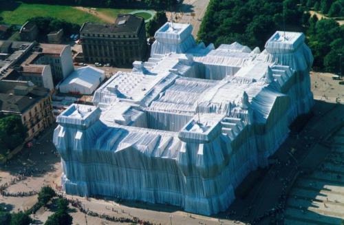 Wrapped Reichstag by Christo and Jeanne-Claude, 1995.