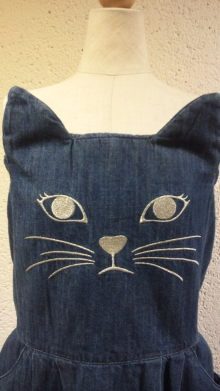 unikko-juice:  Candy Stripper WICKED CAT DENIM ONE-PIECE|RED EARTH raff marketのブログ