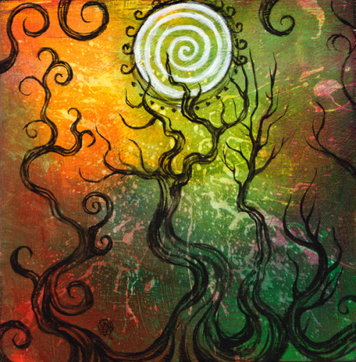 alwayslatefortea:  Spiral Sun Forest by ~zyphryus