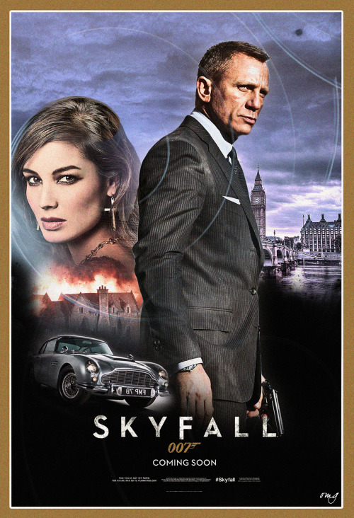 Fan poster I designed inspired by the upcoming 007 SKYFALL