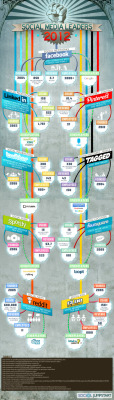 Infographic: Social Media Leaders 2012