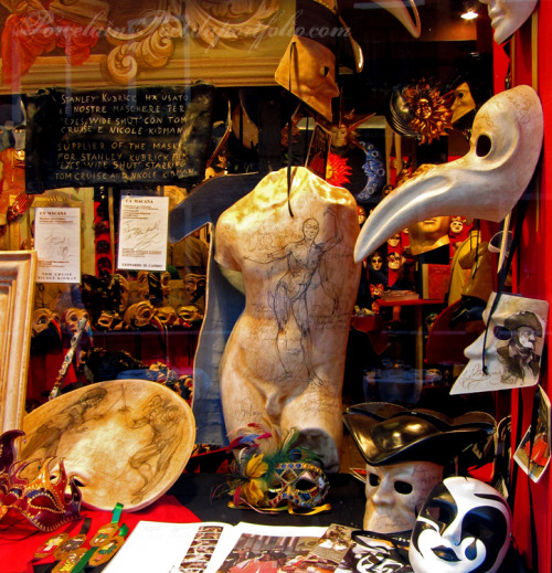 "Venice, Italy 2011 This was the mask shop that provided all the masks for the Stanley Kubrick film, ""Eyes Wide Shut""."
