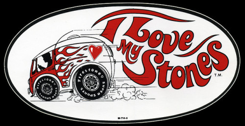 Firestone Tires sticker (1970s)
