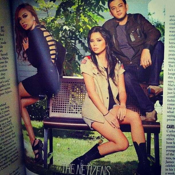Just got a copy of @MetroMagPH! The Netizens @lissakahayon @Jayvee and me!:) (Taken with instagram)