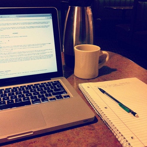 Oh hi Saturday night. #homework #summerclasses #FML (Taken with Instagram at Perkins)