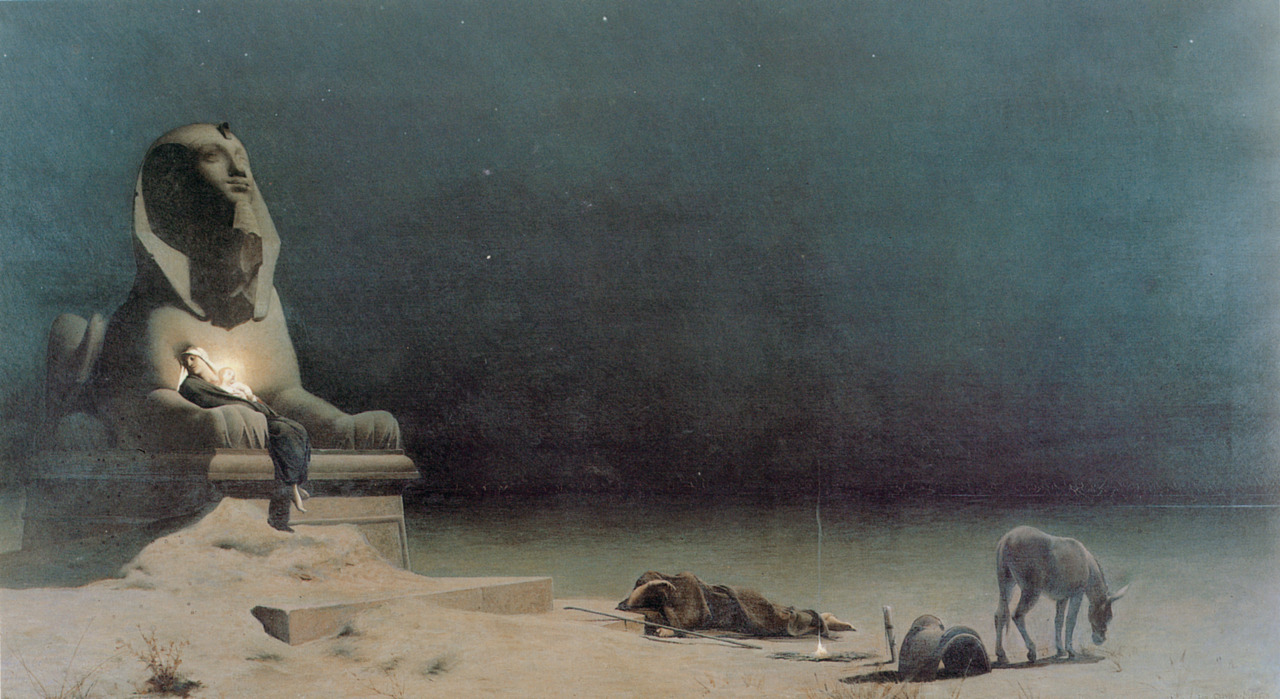 welovepaintings:  Luc-Olivier Merson (1846-1920)Rest on the Flight into EgyptOil on canvas1880Private collection