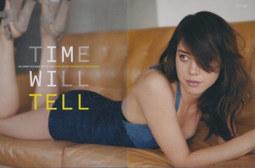 suicideblonde:  Aubrey Plaza photographed by Jennifer Rocholl for Nylon Guys, July 2012