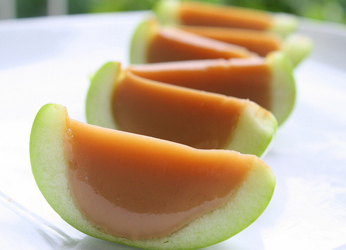 conflictingheart:  Caramel Apple Jello Shots