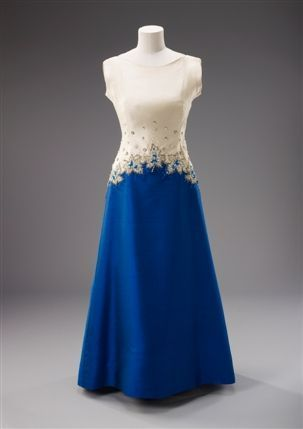 Dress Worn by Queen Elizabeth II Norman Hartnell, 1967