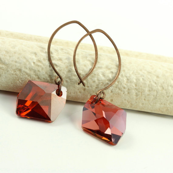 (via Fiery Red Earrings Red Magma Flame Fire by AbacusBeadCreations)