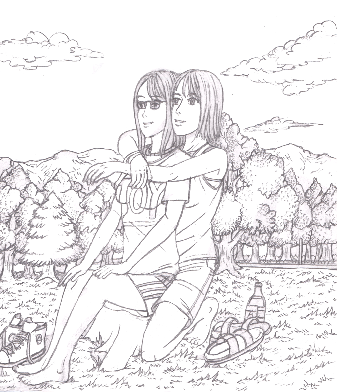 Finished my picture of Eilli and Ino.