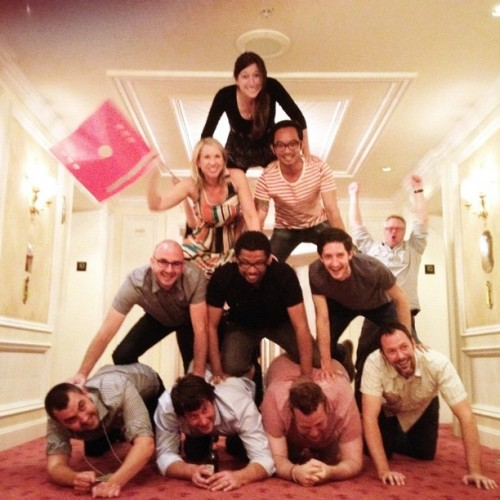 Tradition lives on. #aigaretreat Pyramid.  (Taken with Instagram at The Grand America Hotel)