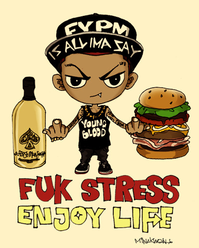 quick drawing of the day ~ fuk stress enjoy life =D