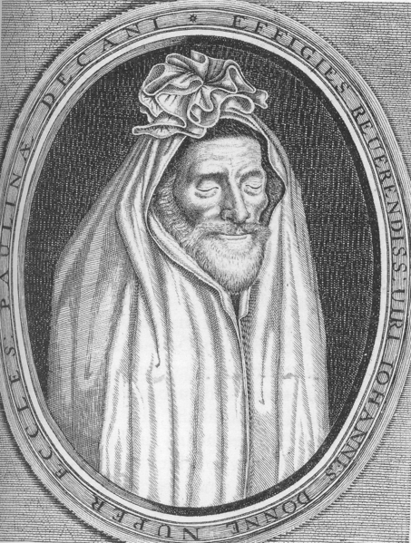 John Donne commissioned this portrait of himself, as he imagined himself resurrected at the End Times.