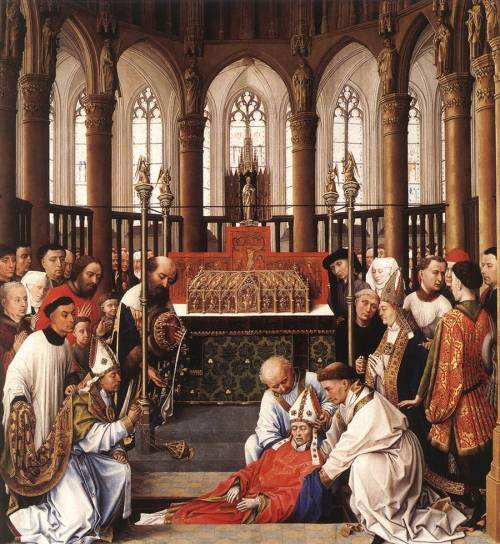 """Exhumation of St Hubert"" by Rogier Van Der Weyden (1437-1440)"