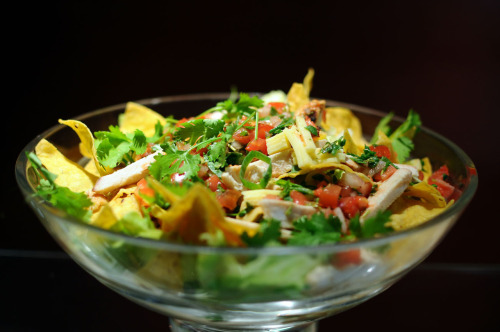 aperture24:  nacho salad with roasted chicken