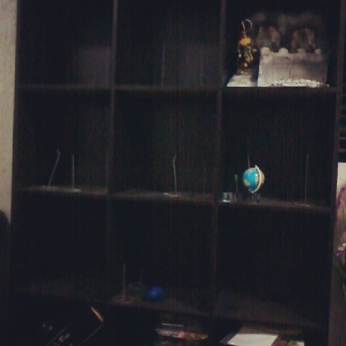 clearing my shelf so i can make newer displays #ACBA (Taken with instagram)