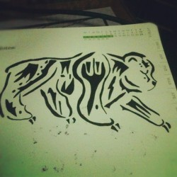 tribal bear. #doodle (Taken with instagram)