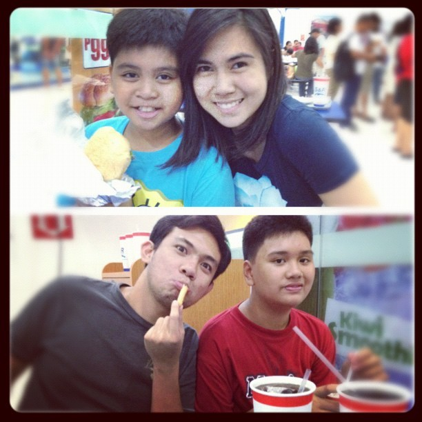 S & R and Gong Cha date with my boys!❤♥ #foodtrip #happysunday (Taken with instagram)