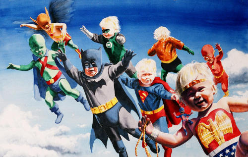 Baby Justice League by Ken Meyer Jr.