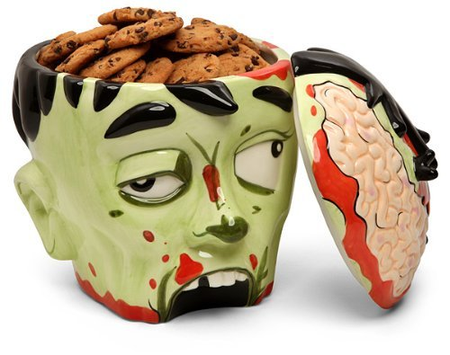 walyou:  Zombie Head Cookie Jar