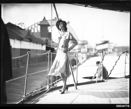 Who's that pretty lady?10 October 1930, Sydney NSW AustraliaOfficers of the Royal Netherlands Navy entertained the socialites of Sydney. Various women were described in The Sydney Morning Herald:  Miss Nancy Bavin was in orange and white printed chiffon with a natural-toned baku hat.  Reception on Java, Officers Entertain The article describes a Mrs Elsa Evans and Madame Teppema, but who is this lady? The search continues…
