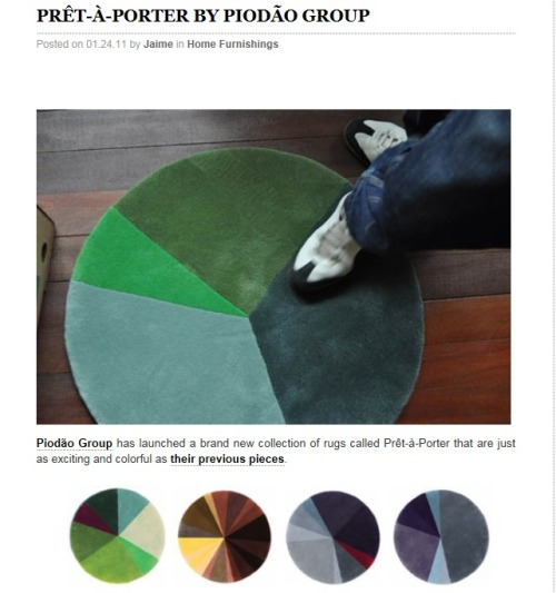 Pie chart rug! Brilliant!