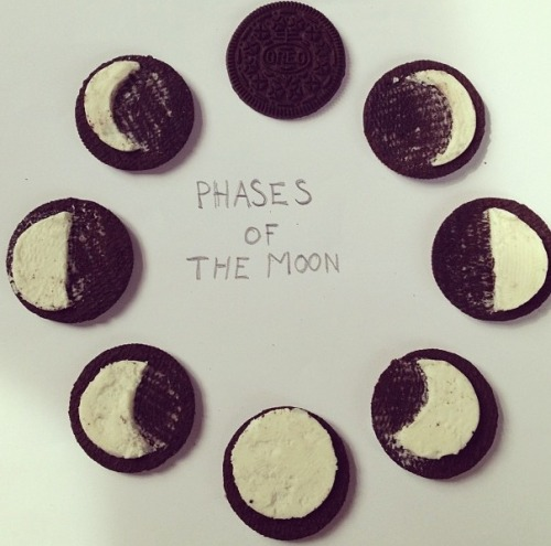 peaceloveinsomnia:  I think we all know the moon is made of oreo cream, not cheese.