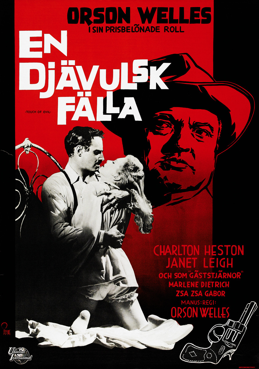thebluevelvetgoldmine:  Touch of Evil (1958) Swedish poster