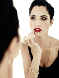 Hanaa Ben Abdesslem, gorgeous Arab model from Morrocco and Lancome's first ever Muslim face and brand ambassador. Love her.
