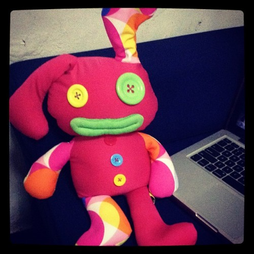 My boonie! #bunny #cutie #stuffedtoy (Taken with instagram)