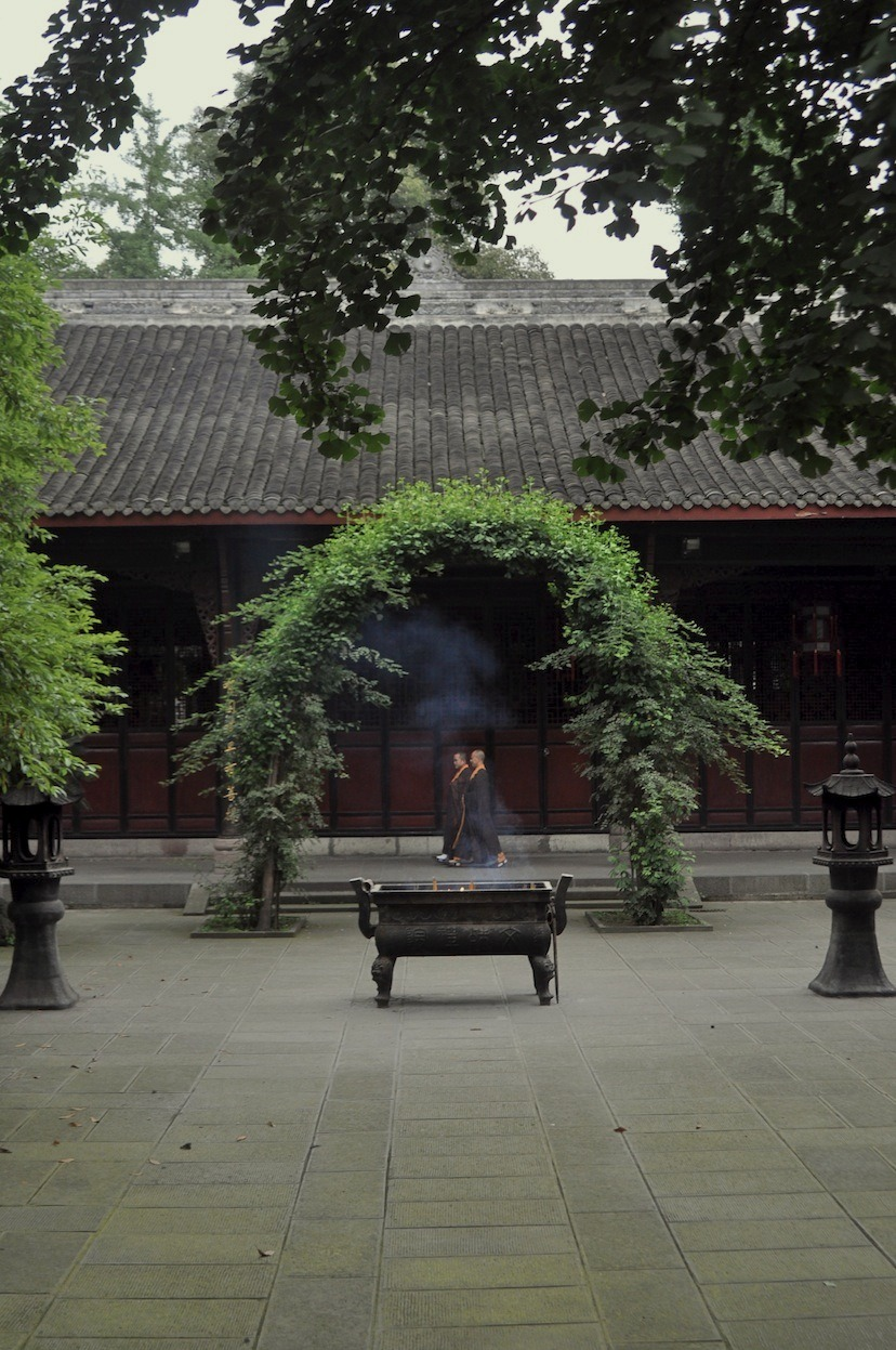 Through the Gate, Manjushri (Wenzhu) Monastery, Chengdu, Sichuan.