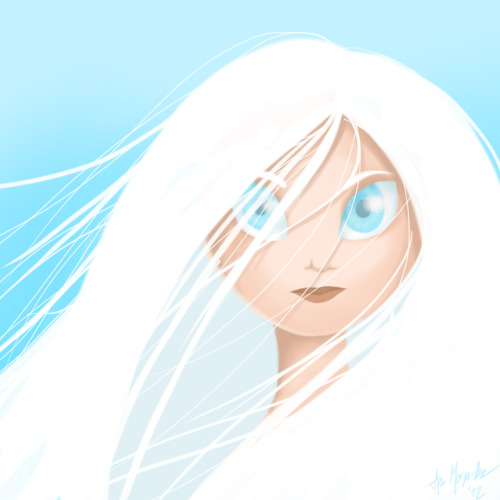 For once, something original sdjhgdkjghsd I love white hair, okay ;u;