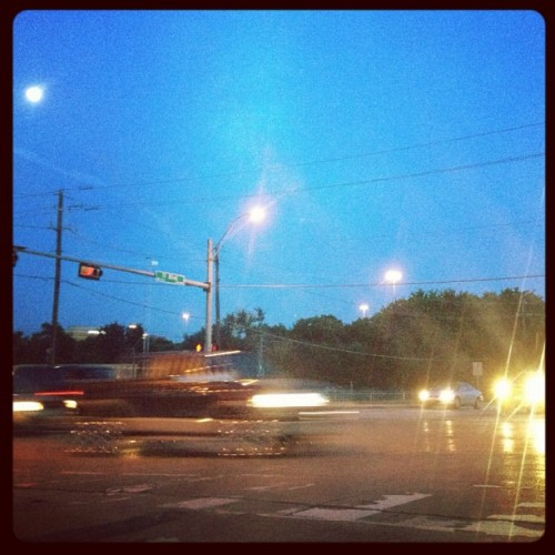 Vroooomm moon #photog #photooftheday #cars #speed #road #traffic #signal #evening #almostfullmoon #moon #photooftheday #iphone4s #instagood #iphonography #instagram #instagood #dailypic #dailyphoto #photography #photooftheday  (Taken with instagram)
