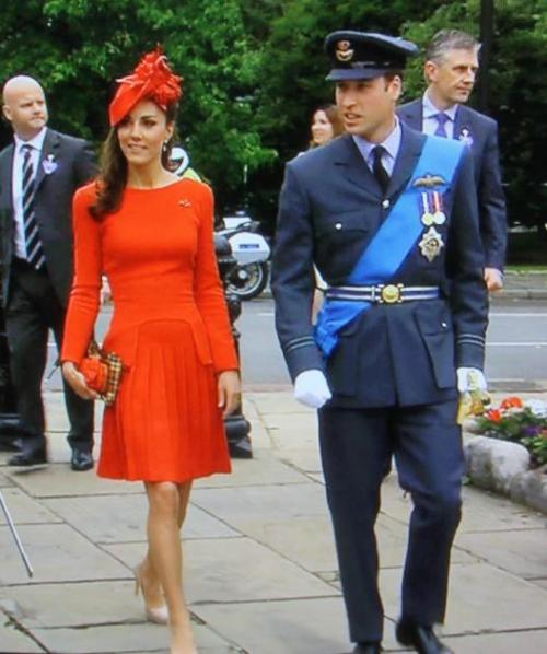 clarajudgypants:  Kate Middleton in red Alexander McQueen at the Jubilee pageant