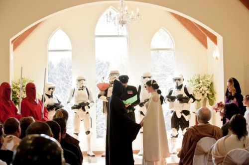 Only the greatest wedding ever.