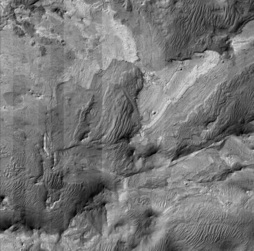 castiglione: Layered deposits in Ius Chasma, photographed by Mars Reconnaissance Orbiter, 29th September 2006. Composite of 20 images from the HiRISE camera. Image credit: NASA/JPL/UoA. Composite: AgeOfDestruction.