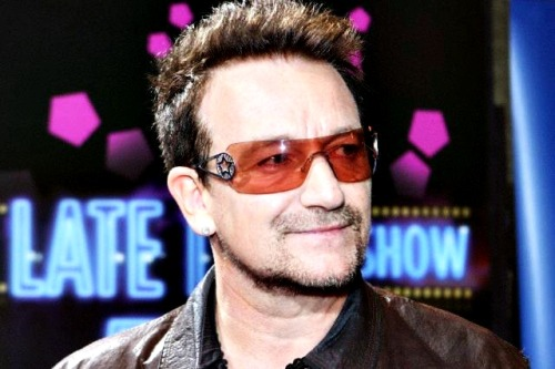 Bono attends the kick off of the (RED) Rush to Zero campaign at the Beats by Dr. Dre store June 2, 2012 in New York.