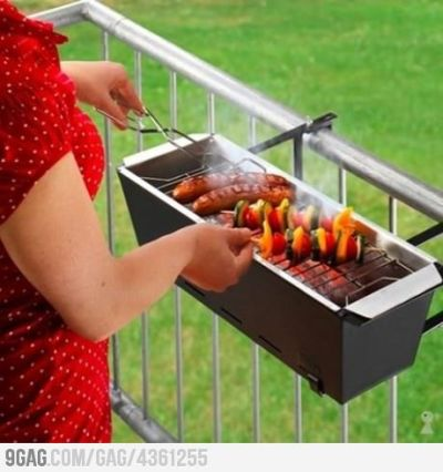 9gag:  Balcony grill for apartments!