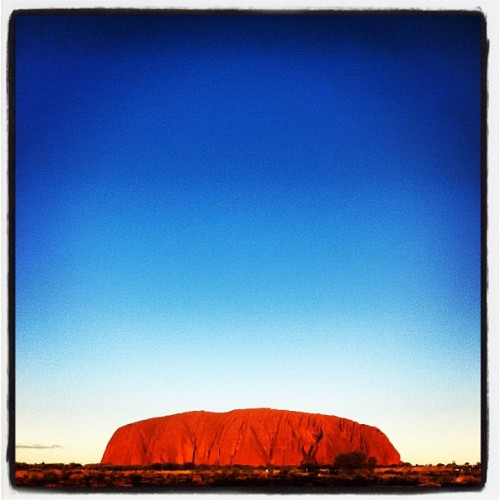 Uluru…348 m high and almost 10 km around…massive  www.fearmanphoto.com