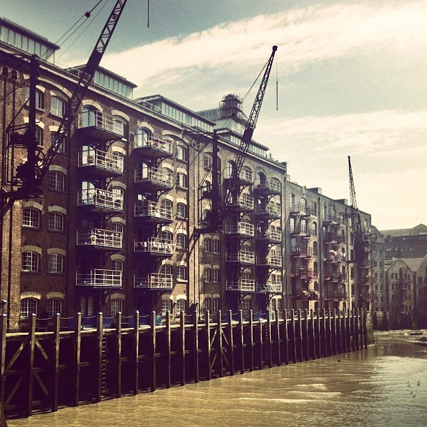 Old warehouses on the Thames (Taken with instagram)