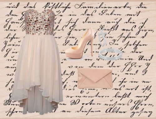 nude and beautiful by yn-nguyen featuring a bandeau dress