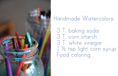 fuckyeahcraft:  How to make your own watercolours with Oh My! 's handmade goodness blog.